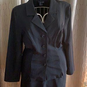 Black striped skirt suit